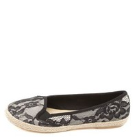 Lace Espadrille Skimmer Flats by Charlotte Russe