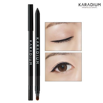 Wonderful Eyes Auto Gel Eyeliner 0.5g / Gel Liner & Sharpner & Blending Brush / Waterproof Long-Lasting - 8 Colors (#1 all black)