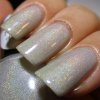 LAST BATCH Fairest of All - Nude Holographic Nail Polish
