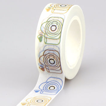NEW 1X 15mm Cute Camera LOVE Tape set for Christmas Print Craft scrapbook DIY Sticky Deco Masking Japanese Paper Washi Tape 10m