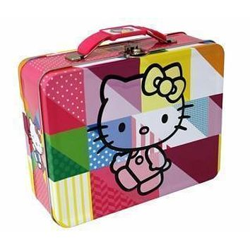 Hello Kitty Colors Embossed Carry All Tin Lunch Box - Gifts