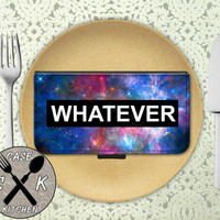Whatever Space Galaxy Tumblr Inspired Funny Quote Cute Custom Wallet Phone Case For The iPhone 4 and 4s and iPhone 5 and 5s and 5c