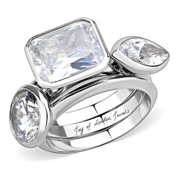 SALE Perfect Contemporary 7.2TCW Radiant Round Marquise Russian be2cf3532