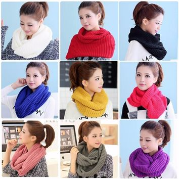 Winter Infinity Cable Knit Scarf