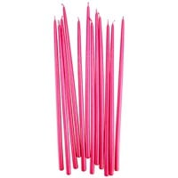 Tall Metallic Pink Hand Dipped Birthday Candles
