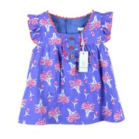 SHOWHASH retail new summer kids casual dress for girls with flower print baby girl dresses summer clothes