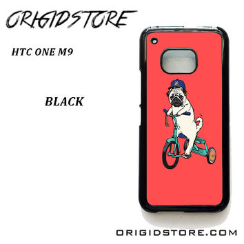 Pug Bicycle For HTC One M9 Case Please Make Sure Your Device With Message Case UY