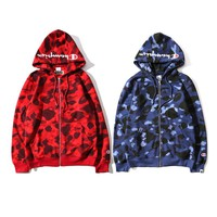 BAPE x Champion Cooperation models camouflage sweater M ~ 2XL