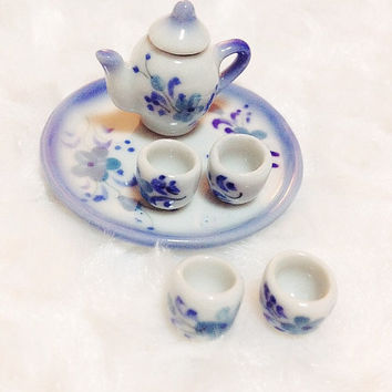 Chinese Tea Set Miniature for Doll's House