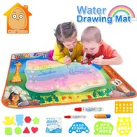 Water Toys For Boys 100*70CM Doodle Mat With Play Pen EVA Rubber Crafts Magic Water Drawing Aqua Mat Arts And Crafts For Kids