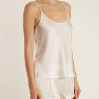 Scoop-neck silk-satin cami top | La Perla | MATCHESFASHION.COM US