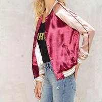 FW16 Sports Autumn Stylish Patchwork Jacket Women's Fashion Baseball [8790862343]