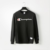 auguau Champion  Crewneck  Cotton Sweatshirt