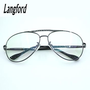 Double Bridge eyeglasses frame men optical glasses full big hipster glasses Classic Way frame mono spring hinge big face37mm2370