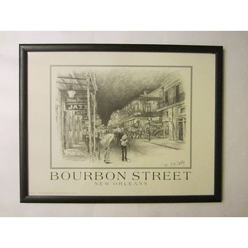 Don Davey New Orleans Impressionist Lithograph Signed Dated