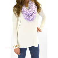 Galloway Off White Piko Long Sleeve Top
