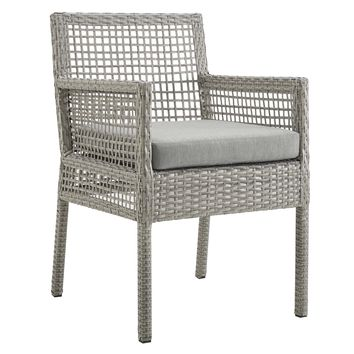 Aura Outdoor Patio Wicker Rattan Dining Armchair