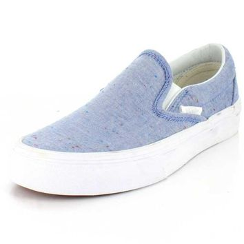 Vans Womens Speckle Jersey Slip-On Sneaker Blue/ True White 7 B(M) US Women / 5.5 D(M)