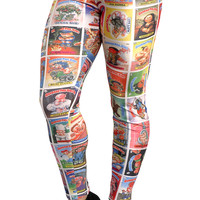BadAssLeggings Women's Garbage Pail Kids Leggings Medium