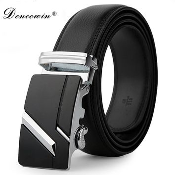 Leather strap male automatic buckle