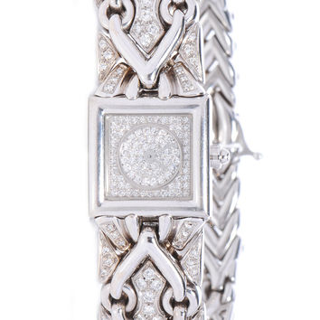 BULGARI BVLGARI Ladies 18k White Gold Diamond 22mm Quartz Trika Watch
