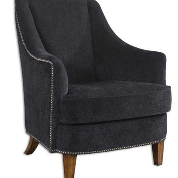 Lounge Chair - Midnight Black Plush