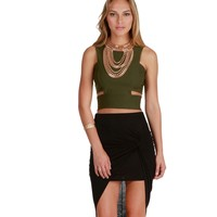 Olive Made The Cut Crop Top