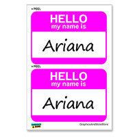 Ariana Hello My Name Is - Sheet of 2 Stickers