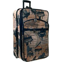 "24"" Expandable Rolling Suitcase Piano Tapestry"