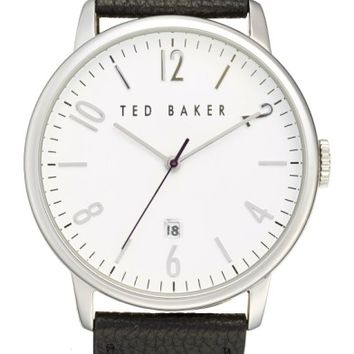Ted Baker London Leather Strap Watch, 42mm | Nordstrom