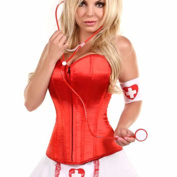 Daisy Corsets Female 5 PC Pin-Up Nurse Corset Costume LV-1561