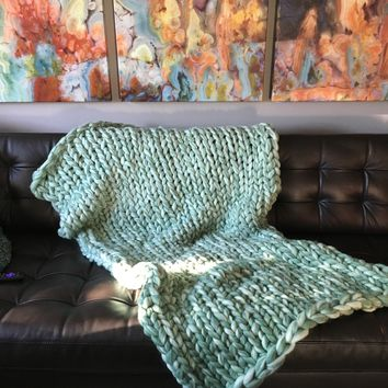 Oh So Soft and Cozy Chunky Arm Knit Blanket
