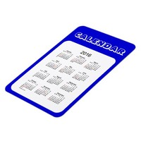 2016 Denim Blue Calendar by Janz 4x6 Magnet