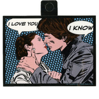 Star Wars Leia & Han Love Pop Art Sticker