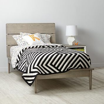 Wrightwood Grey Stain Bed