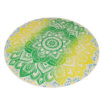 Chiffon Printed Round Beach Towels Bohemian Style Retro Circle Beach Towel Serviette De Plage