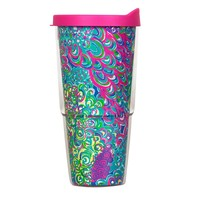Insulated Tumbler with Lid in Lilly's Lagoon by Lilly Pulitzer