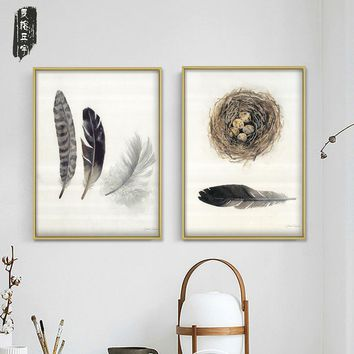 Wall Painting Living room canvas Painting Poster Framed Wall picture Art Posters and Prints nordic Abstract feather Home Decor