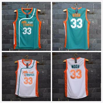 ONETOW Flint Tropics Semi Pro Movie Throwback Basketball Jerseys 33 Jackie Moon
