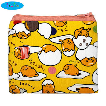 NEW! Gudetama Coin Purse-Coin Pouch-Lazy Egg Zip Bag-Sanrio Zipper Pouch