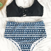 Cupshe Sweet Memory High-waisted Bikini Set
