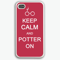 Harry potter, iPhone 4 Case, iPhone 4s Case, iPhone 4 Hard Case, keep calm Pattern iPhone Case