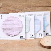 Colorful Wooden Color Memo Notepad Notebook Memo Pad Self-Adhesive Sticky Notes Bookmark Promotional Gift Stationery