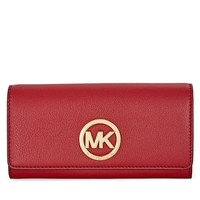 Michael Kors Fulton Carryall Wallet - Burnt Red