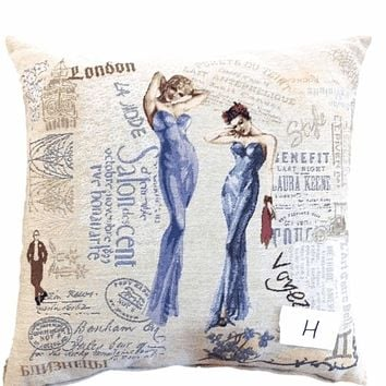 Tache Girls Just Want to Have Fun Woven Throw Pillow Cushion Cover (1351)