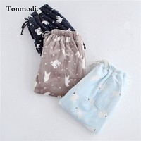 Lovers Men And Women Pajama Pants Trousers thickening flannel lounge pants thermal coral fleece velvet trousers plus size
