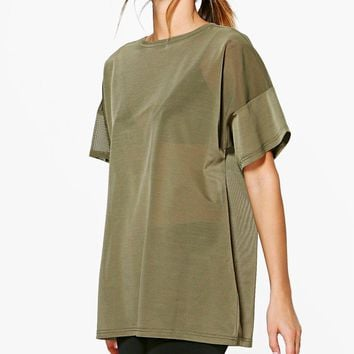 Kara Fit Oversized Mesh Workout Tee