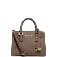 Dillon Saffiano Small Satchel Bag, Dark Dune - MICHAEL Michael Kors