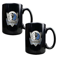 Dallas Mavericks 2-pc. Mug Set (Black)
