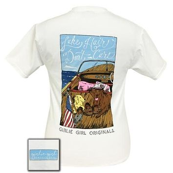 Girlie Girl Preppy Lake Hair Don't Care Puppies T-Shirt